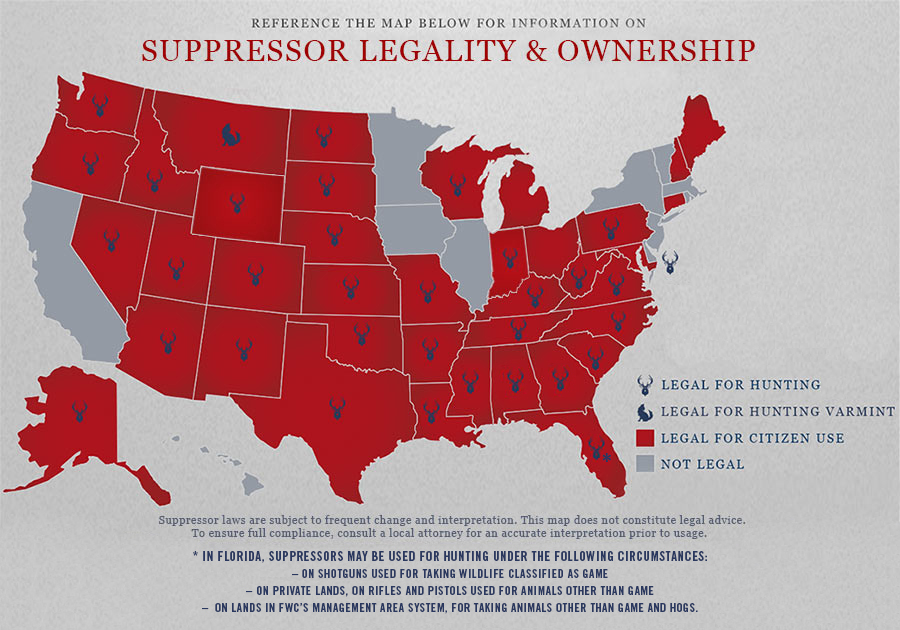 Suppressor Ownership and Legality Map