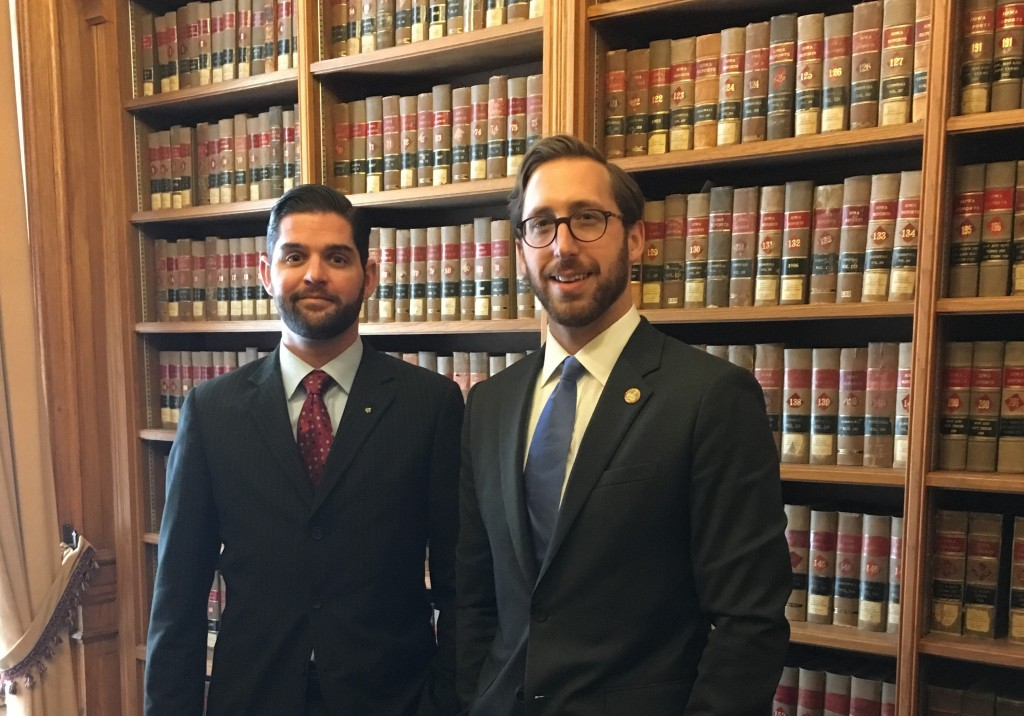 Iowa Rep. Matt Windschitl and ASA General Counsel Michael Williams at the Iowa Capitol.