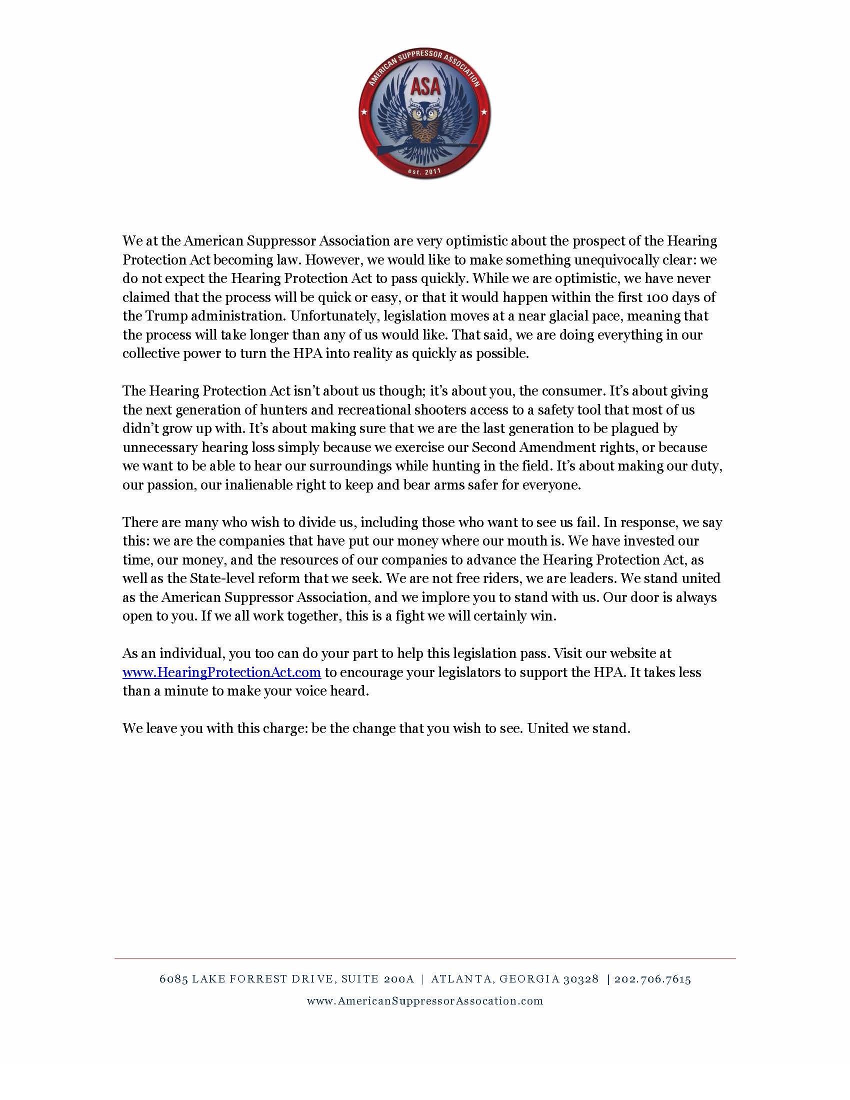 Asa United We Stand Letter Final_page_2 United We Stand: A Factual Review  Of The Hearing